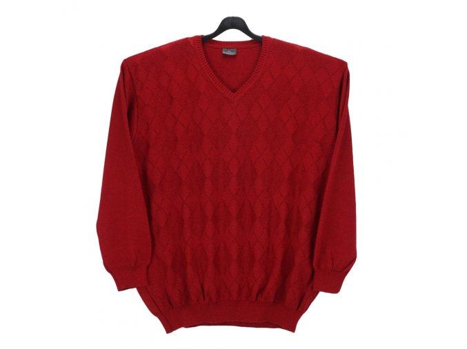 Pánský svetr červený se vzorem V