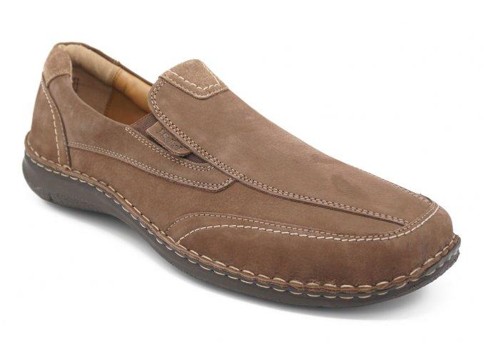 Pánská hnědá obuv s pérky 1