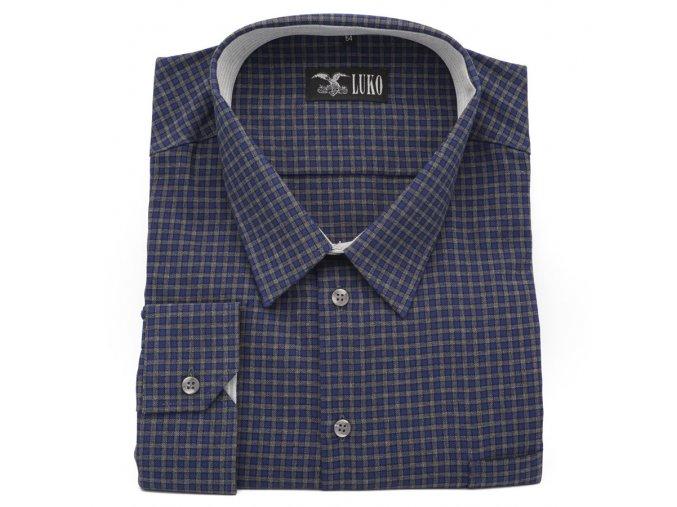 Pánská košile modro šedá 1