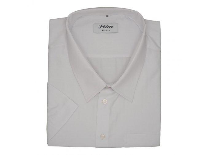 Pánská bílá hladká košile K1