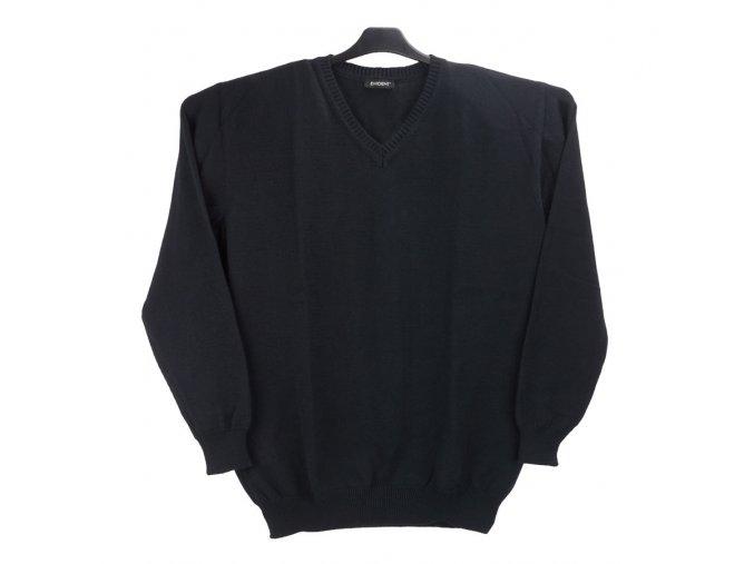 Pánský svetr černý hladký V
