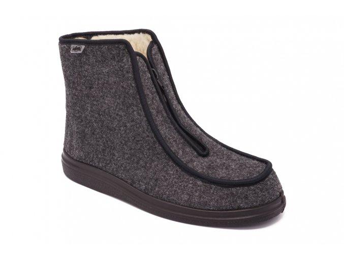 Kotníkové zimní boty Důchodky 1 kopie
