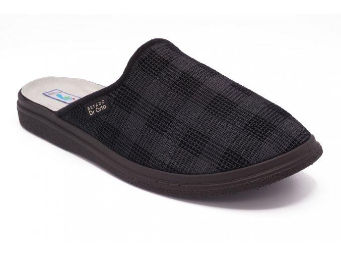 Pánská domácí obuv šedá 1