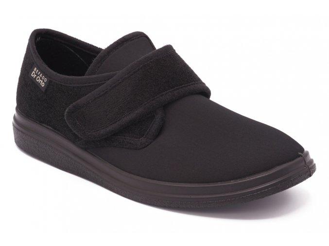 Diabetická obuv nízká černá suchý zip 1
