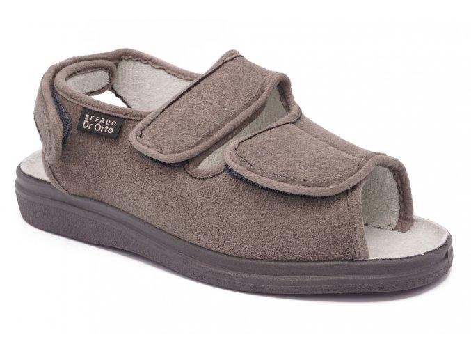 Diabetické sandály šedé 1