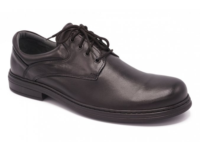 Pánská obuv černá kulatá špice 1