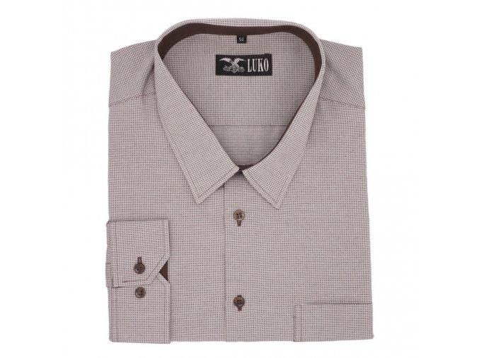 Košile bílo hnědá kostička 1D
