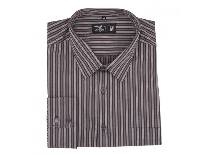 Košile pruh hnědý elegant 1