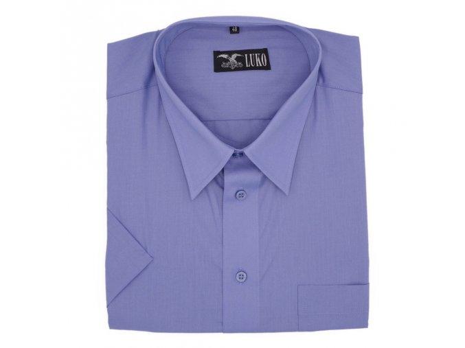 Košile středně modrá hladká 1K