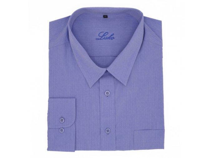 Košile střední modrá tečka lux 1D
