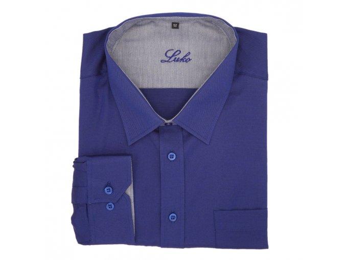 Košile střední modrá zrnko 1D