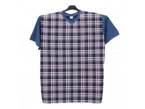 Pánské pyžamo krátké světle modré K1