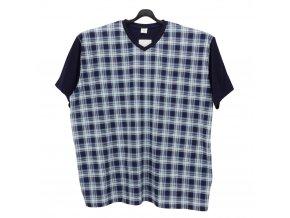 Pyžamo pánské krátké tmavě modré k1