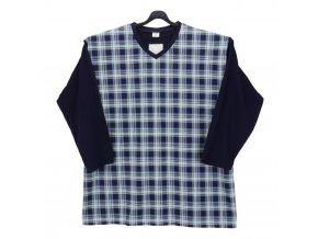 Pánské pyžamo modré bavlna DR1