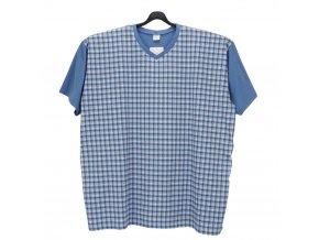 Pánské pyžamo modrá kostka K1