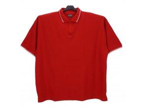 Pánské nadměrné tričko červené s bílou KL