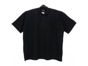 Pánské nadměrné tričko černé piké KL