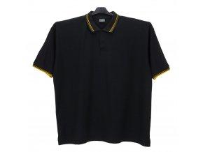 Pánské nadměrné tričko černé se žlutou KL