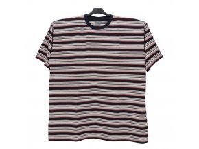 Pánské nadměrné tričko modrá melír hnědá KU