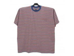 Pánské nadměrné tričko melír modrá červená KU