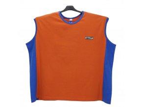 Pánské nadměrné tričko bez rukávů oranž modrá BU