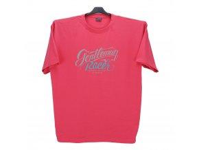 Pánské nadměrné tričko růžové s potiskem KPU