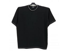 Pánské nadměrné tričko černé šedý lem KU