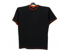 Pánské nadměrné tričko modré oranž KU