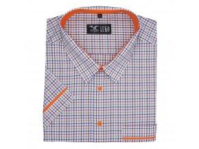 Pánská nadměrná košile oranž lem K1