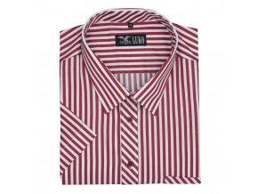 Pánská nadměrná košile červený pruh K1
