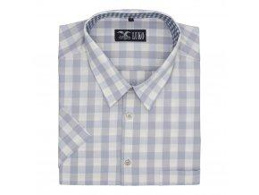 Pánská nadměrná košile šedá kostka K1