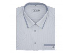 Pánská nadměrná košile šedý proužek a lemy K1