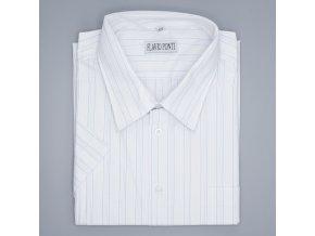 Pánská nadměrná košile bílá s modrou linkou K1