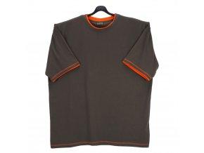 Pánské tričko oliva oranž lem KU