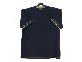 Pánské tričko modré oliva lem KU