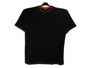 Pánské tričko černé oranžový lem K