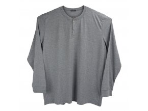 Pánské nadměrné tričko s knoflíčky šedé Ewident D