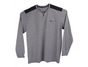 Pánské dlouhé tričko šedé Ewident D