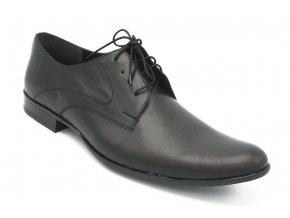 Pánská nadměrná obuv společenská černá hladká 1