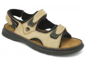 Pánské nadměrné sandály Seibel béžové 1