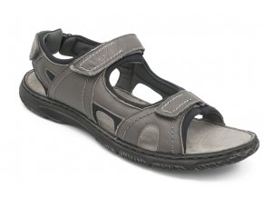 Pánské nadměrné sandály tmavě šedé Seibel 1