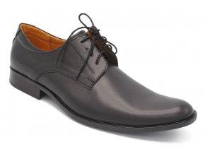 Pánské nadměrné společenské boty hladké černé 1