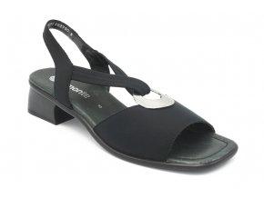 Dámská nadměrná obuv letní černá se sponou 1
