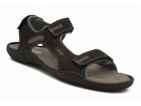 Pánské nadměrné sandály černé 1