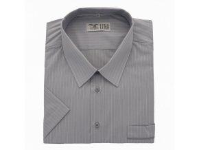 Pánská nadměrná košile světlá šedá proužek K 1