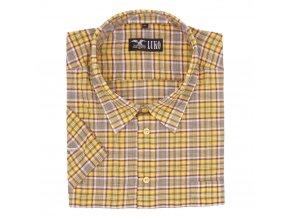 Pánská košile nežehlivá žlutá K1