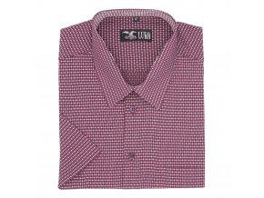 Pánská košile vínové piké K1