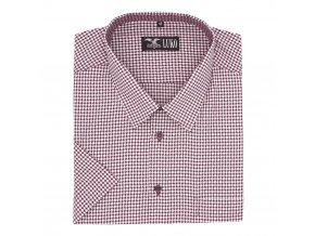 Pánská košile bílá s vínovou hvězdou K1
