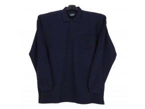 Pánské tričko modré s límcem DL