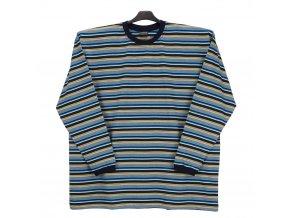 Pánské tričko dlouhý rukáv modrá tyrkys modrá DU